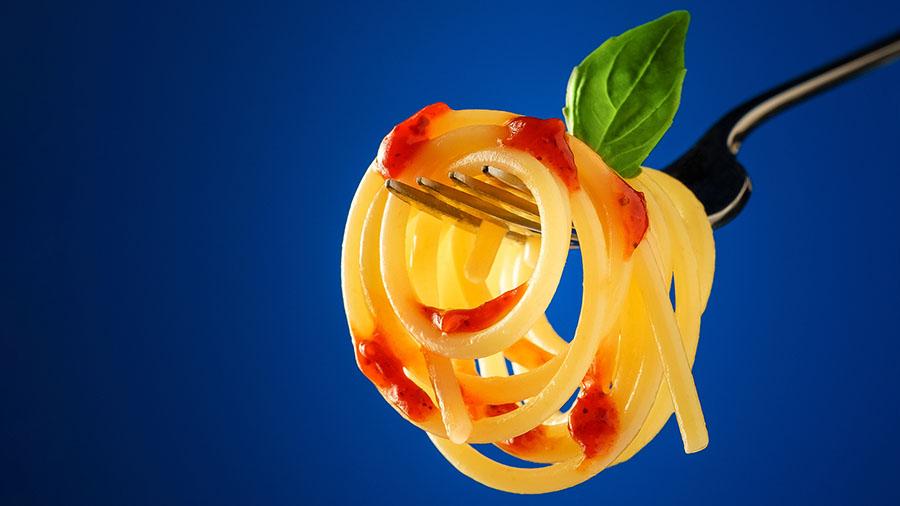 Креативная съемка спагетти